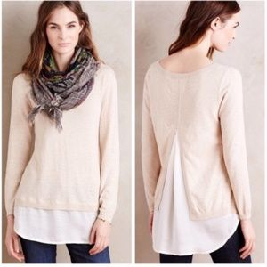 ANGEL OF THE NORTH Layered Duet Pullover S
